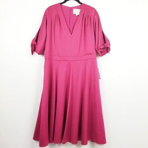 NWT Gal Meets Glam Fit and Flare Tie Sleeves Dress